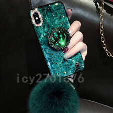 3D Bling Marble ring holder Stand Soft Phone Case For Samsung Galaxy S8 S9 S10 +
