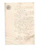 1862 manuscript official notary document whitte black stamps READY TO FRAME
