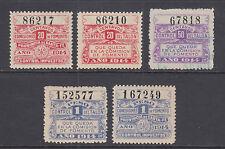 Argentina, Santa Fé, 1914 Comision de Fomento Revenues, 5 different