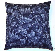 Handmade Home Decorating Blue Scroll Leaf Design Decorative Pillow
