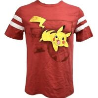 Pokemon Mens Pikachu Battle Stance! Shirt New S, M, L, XL