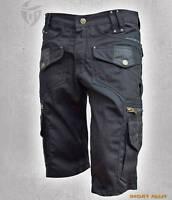Men Cargo Short Pants Hipster,Tribal,Steampunk,Adventure Wear, Burning Man