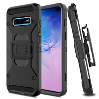 For Samsung Galaxy S10 Plus/S10/S10e Belt Clip Rugged Holster Hard Case Cover