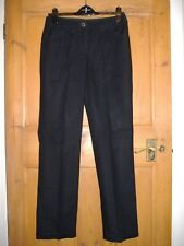 Marks & Spencer black cotton trousers. Size 10 LONG.
