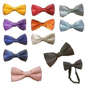 Childrens Infant Toddler One Size Wedding Bow Tie Girls Boys Pink Blue Black