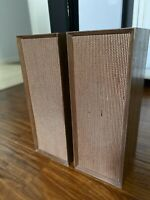 Vintage Coral BX-8 Japan Hi Fi Wood Grain Bookshelf Speakers