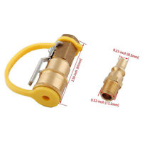 Propane/Natural LP Gas Quick Disconnect Coupler Ball Valve 1/4  Inlet RV ST Hot