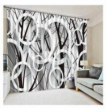 Polyester Circles Window Curtains