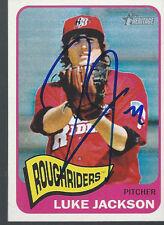 Texas Rangers LUKE JACKSON Signed Heritage Card