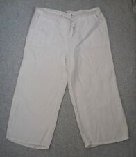 Trousers 12 | White Linen Cropped | Marks & Spencer