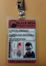 Portal ID Badge - Black Mesa Gordon Freeman w/pic cosplay prop costume