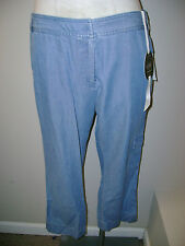 Charter Club Chambray Cropped Cargo Pants 8 NWT $49