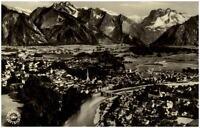 Bad Tölz Bayern Postkarte 1957 gelaufen Panorama Gesamtansicht Berge Luftbild