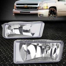 FOR 07-15 CHEVY SILVERADO GMC SIERRA CLEAR LENS BUMPER FOG LIGHT LAMPS W/SWITCH