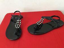 b49af6eba2e BCBGMAXAZRIA Flat (0 to 1 2 in) Plastic Sandals for Women