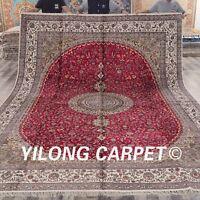YILONG 10'x14' Extra Large Handwoven Silk Carpet Antistatic Area Rug ZW168C