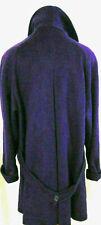 Vintage Jennifer Chase Womens Wool Coat Purple Wool Peacoat Swing Coat Sz 16/18