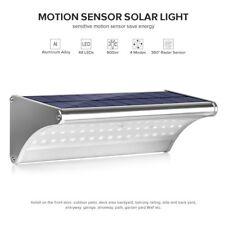 LED Solarleuchte Wandleuchte mit Bewegungsmelder Außenleuchte Aluminum Gehäuse