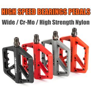 Promend MTB Road Bike Bicycle Widen Pedal Cycling Nylon DU Bearing Flat Pedal
