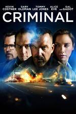 CRIMINAL Blu-Ray • New* (No Digital Copy) Sealed / Shrink-Wrapped +Free Shipping