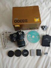 Nikon D3300 Digital SLR Camera - Black + 18-55 AF-P VR Lens  + spare battery