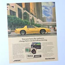 DELCO / BOSE / Advert Publicidad Publicite Reklame Ad Car Audio GM Camaro IROC-Z