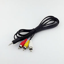 3.5mm 4 Pole Stereo Aux Plug To 3 RCA Male Adapter AV Audio Video Cable 1.5M/5FT