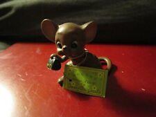"""Vintage Josef Originals Doctor Mouse with Md Black Bag """"Mouse Village""""2.5""""Tx 3""""W"""