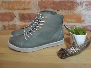 Andrea Conti Sneaker high grau weiß Leder Damen Gr. 37 38 39 40 41