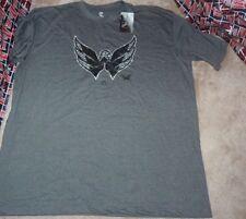 NEW NHL Washington Capitals T Shirt 4XLT 4XL BIG TALL Grey with Black NEW NWT