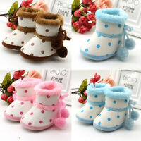 0-12M Newborn Baby Soft Sole Snow Booties Warm Toddler Boy Girl Boots Pram Shoes