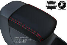 RED STITCHING ARMREST LID LEATHER COVER FITS TOYOTA RAV 4 2001-2005