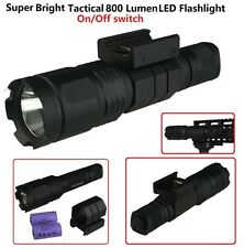 800 Lumens Tactical Rifle Weapon Flash Light With Free Weaver/Picatinny Mount