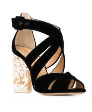 Charlotte Olympia Apollo 100 Womens Black Velvet High Heels Sz 40 EUR 7452