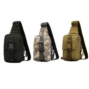 3 Colors Tactical Shoulder Bag Chest Bag Small Daily Outing Pack Crossbody Bags