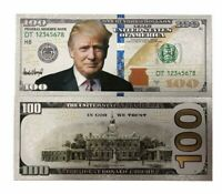 wholesale Donald Trump Pack of 50 $100 Dollar Bill Silver Plated Foil Banknote