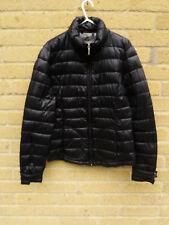 Women's Lightweight Black Padded Puffer Front Pockets Jacket Size S