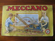 Old Meccano 2A booklet with examples ... in 1954!  Paris, Imp. Henon. R.C. Seine
