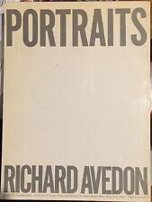 RICHARD AVEDON - PORTRAITS - 1976 SOFTCOVER 1ST EDITION - NICE COPY