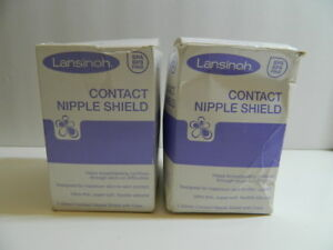Lansinoh Contact Nipple Shields 2 Count 24mm w/ Carry Case New in open box