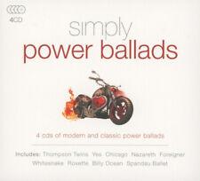 Various Artists : Simply Power Ballads CD Box Set 4 discs (2016) Amazing Value
