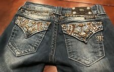 Miss Me Cropped Jean  Womens Size 25 Rhinestone Embellishments