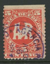 GN STAMPS- COLOMBIA, USED, #H2, NICE CENTERING