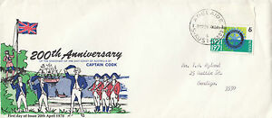 Stamp 1971 Australia Rotary on long format Captain Cook FDC unkown producer