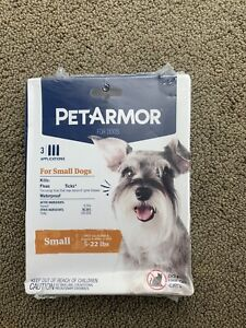 Pet Armor Flea Tick Prevention for Small Dogs (5-22 lbs), 3 Applicators