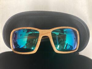 Costa Del Mar Blackfin Ashwood 580p Green Lens Sunglasses Fly Fishing Polarized