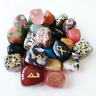 25 Pcs Multi Mix Stone Spritual Rune Set Natural Healing Crystal Tumble Gemstone