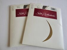 (2) Hanes Silk Reflections Pantyhose Gentlebrown Size CD Sheer Sandalfoot 715