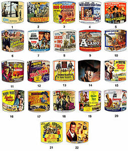 Lampshades Ideal To Match John Wayne Films Posters, Cowboy & Western Wall Art