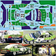 BMW M3 E36 Bigazzi 24H Spa 1996 Fina #20 Duez Surer Rafanelli 1:43 Decal